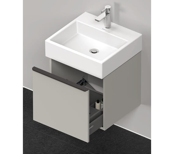 Alternate image of Duravit D-Neo 1 Drawer Wall Mounted Vanity Unit For Vero Air Basin