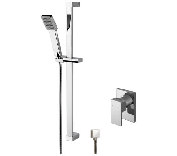 Nuie Windon Manual Shower Valve With Slide Rail Kit And Elbow