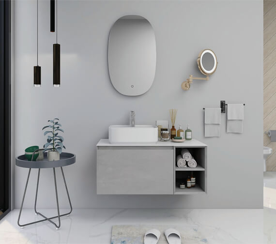 IMEX Ravine 900mm Single Drawer Cabinet With Open Shelf
