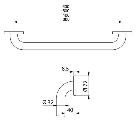 Technical drawing QS-V106757 / 35050W