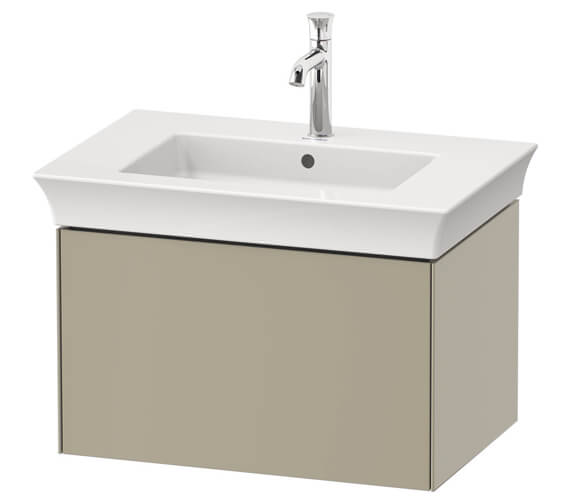 Duravit White Tulip Wall Mounted 1 Pull Out Compartment Vanity Unit