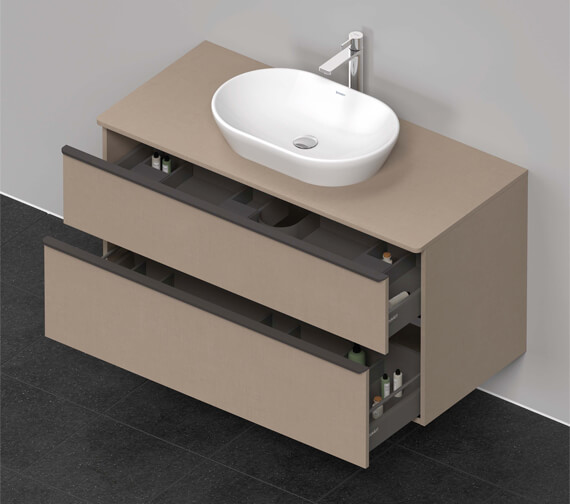 Additional image of Duravit D-Neo 2 Drawer Wall Mounted Vanity Unit