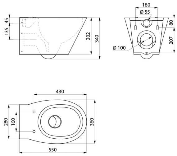 Technical drawing QS-V106761 / 110110