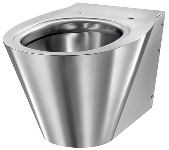 Delabie BCN S Wall-Hung Stainless-Steel WC Pan