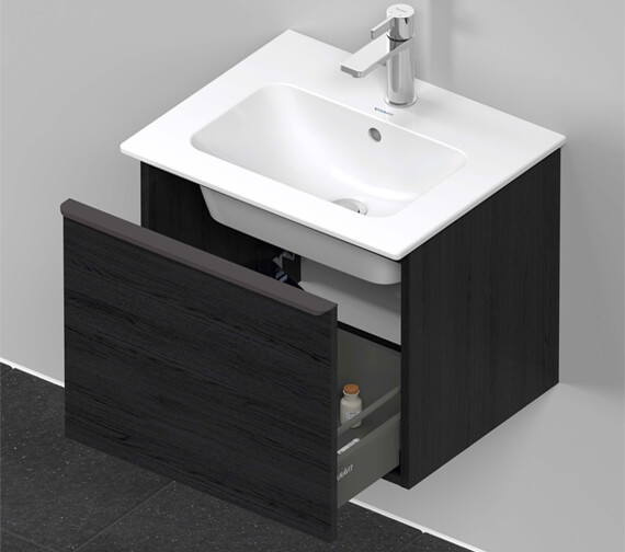 Additional image of Duravit D-Neo 1 Drawer Wall Mounted Vanity Unit For Me By Starck Basin