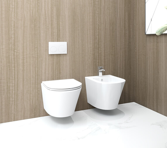 IMEX Arco 520mm Wall Hung WC Pan With Fixing