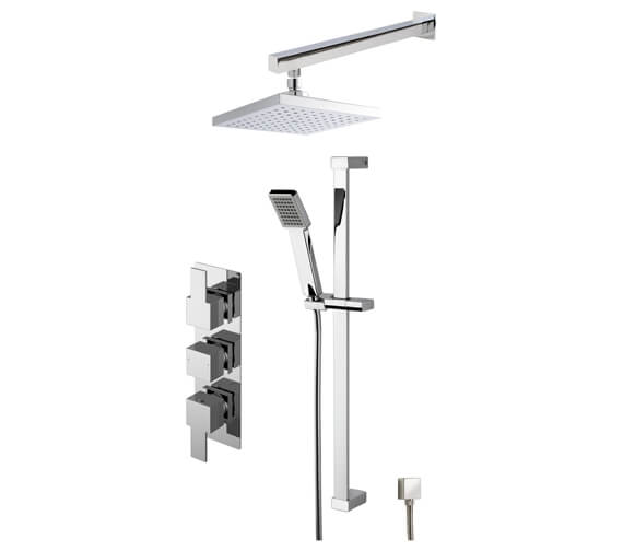 Nuie Triple Conc Thermostatic Valve With Shower Kit And Head