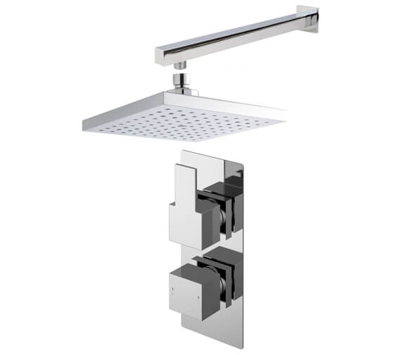 Nuie Sanford Twin Thermostatic Valve With Shower Head And Arm