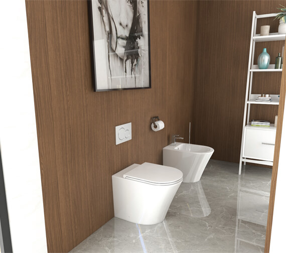 IMEX Arco Back To Wall WC Bowl With Fixings