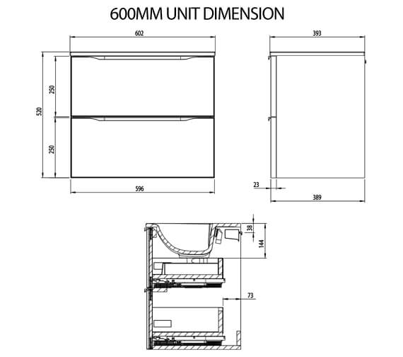 Technical drawing QS-V100418 / FRM600D.W