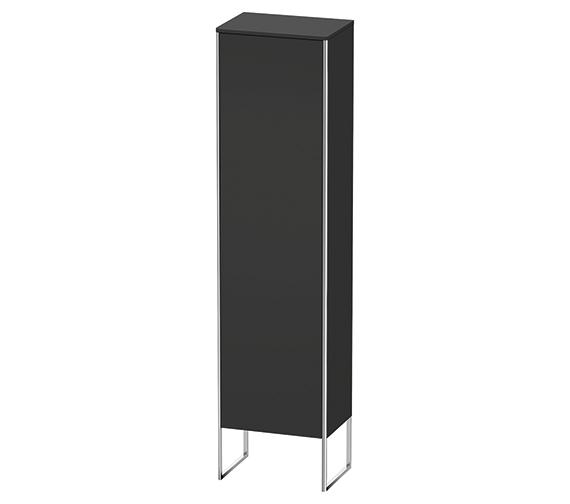 Alternate image of Duravit XSquare 500 x 356 Left Hand Hinged 1-Door Tall Cabinet Floor-Standing