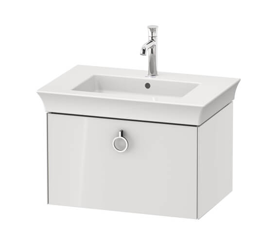Duravit White Tulip 1 Pull Out Compartment Vanity Unit With Handle