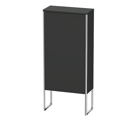 Alternate image of Duravit XSquare 500 x 236mm Left-Hand Door Floor Standing Semi-Tall Cabinet