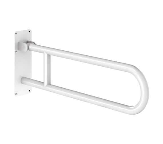 Delabie Basic White 760mm Drop Down Grab Bar