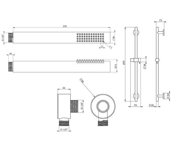 Technical drawing QS-V104746 / SKCO02