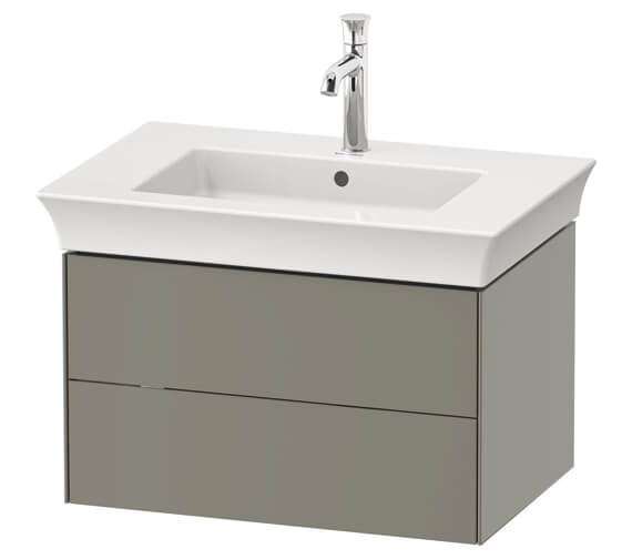 Duravit White Tulip Wall Mounted Double Drawer Vanity Unit