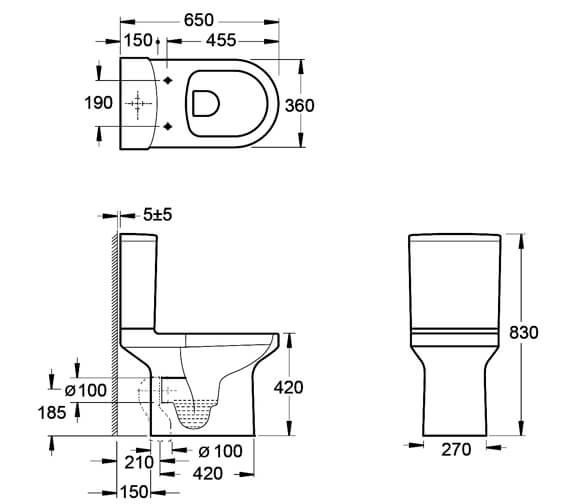 Technical drawing QS-V92120 / C10156R