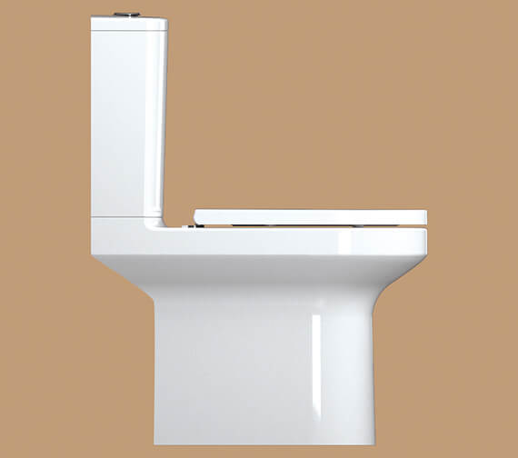 Alternate image of IMEX Alma 650mm Rimless Close Coupled WC Pan With Cistern And Seat