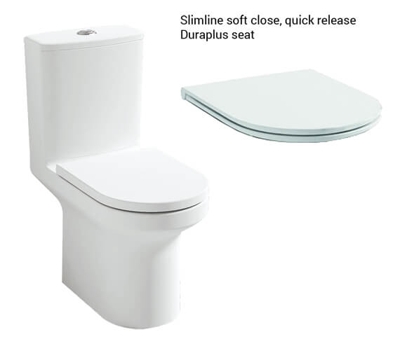 Additional image of IMEX Alma 650mm Rimless Close Coupled WC Pan With Cistern And Seat