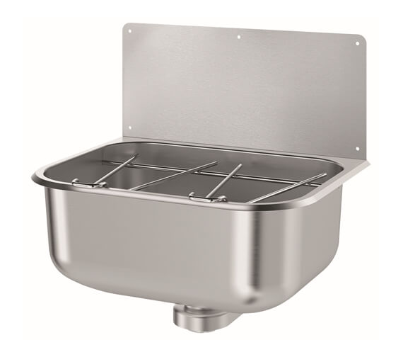 Delabie 460 x 370mm Stainless-Steel Wall-Mounted Cleaners Sink
