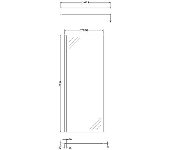 Technical drawing QS-V100430 / WRSBB70