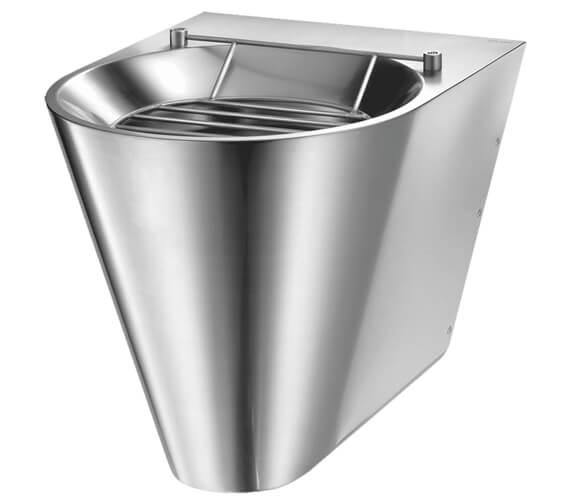 Delabie XL S 410 x 500mm Stainless-Steel Wall-Mounted Disposal Sink