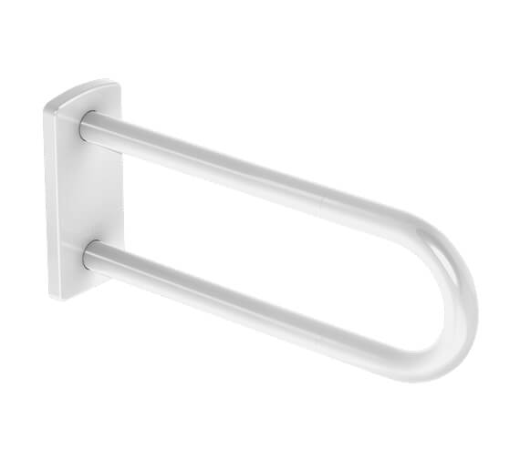 Delabie 650mm White Fixed Support Grab Bar