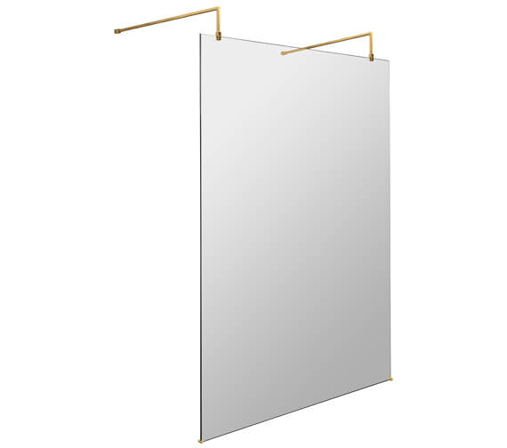 Alternate image of Hudson Reed Freestanding Wetroom Screen With Arms And Feet