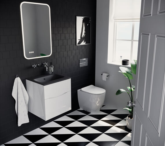 Alternate image of Crosswater Glide II Wall Hung Double Drawer Bathroom Unit