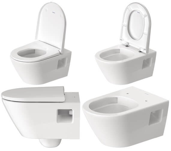 Alternate image of Duravit D-Neo Wall Hung Rimless WC Pan