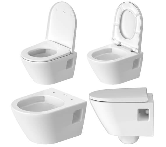 Additional image of Duravit D-Neo Compact Wall Mounted Rimless WC Pan