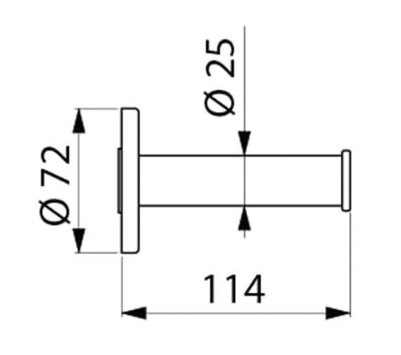 Technical drawing QS-V106736 / 4070N