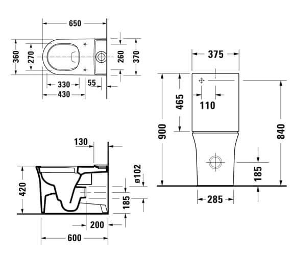 Technical drawing QS-V98198 / 2197090000