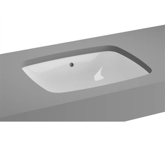 Additional image of VitrA M-Line White Inset Wash Basin Without Tap Hole