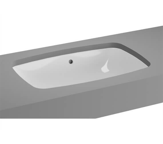Alternate image of VitrA M-Line White Inset Wash Basin Without Tap Hole