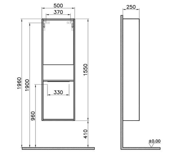 Technical drawing QS-V90809 / 62014