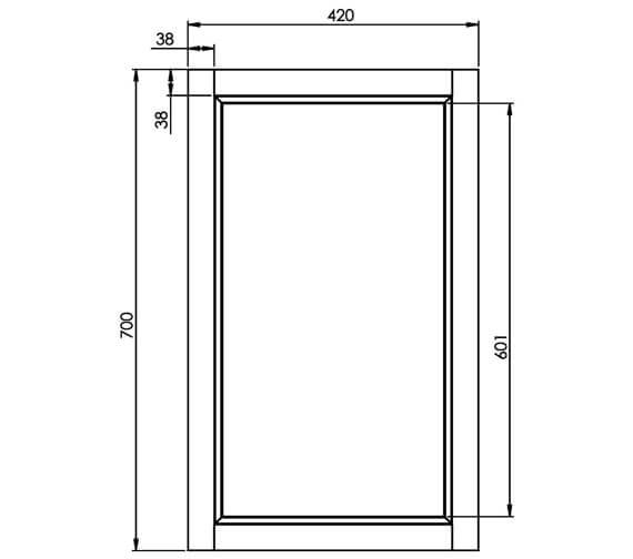 Technical drawing QS-V4762 / HAM420M.W