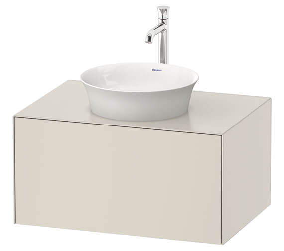 Duravit White Tulip Wall Hung 1 Pull Out Compartment Vanity Unit