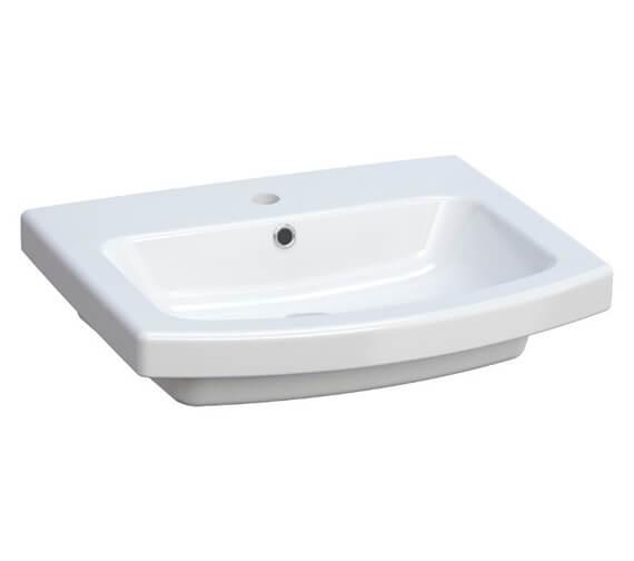 Saneux I-Line 1 TH Gloss White Washbasin