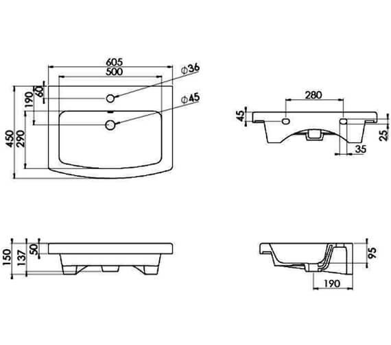 Technical drawing QS-V104767 / 60621