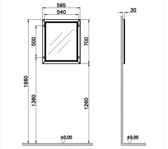 Technical drawing QS-V106848 / 62213