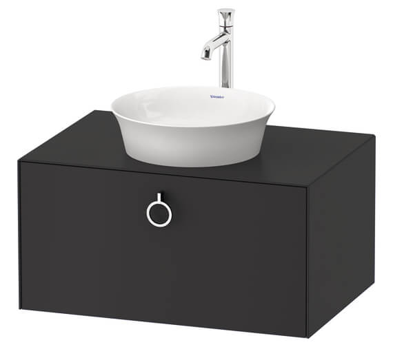 Duravit White Tulip Wall Hung 1 Pull Out Compartment Vanity Unit With Handle