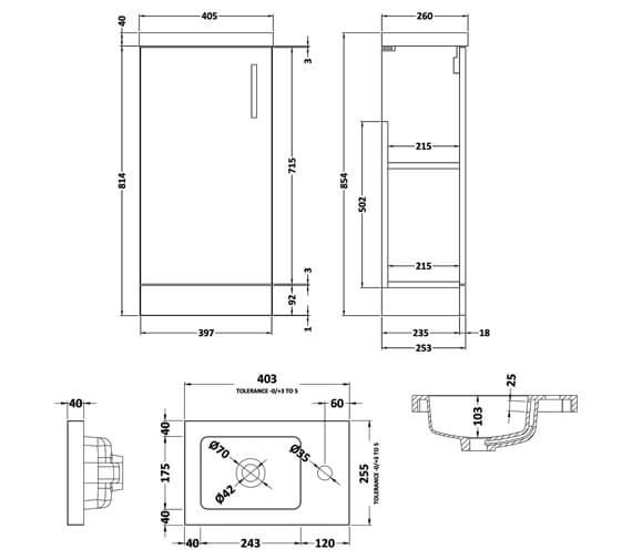 Technical drawing QS-V81997 / APL722C