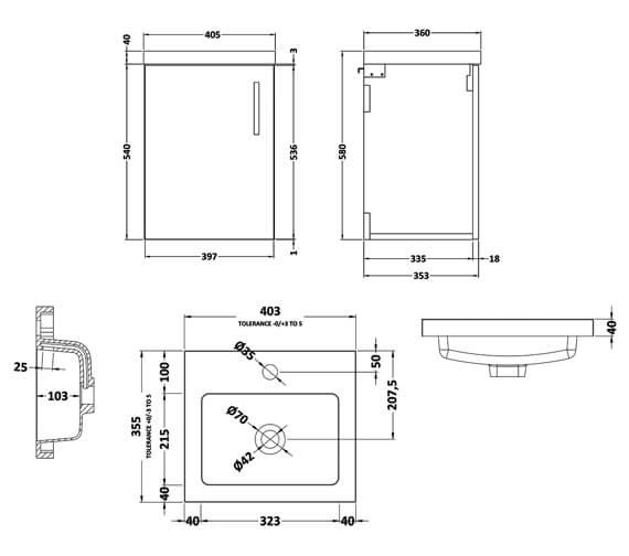Technical drawing QS-V90008 / APL732