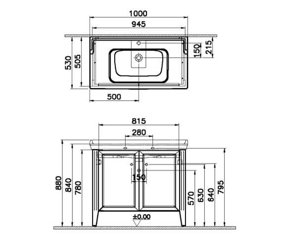 Technical drawing QS-V106852 / 62153