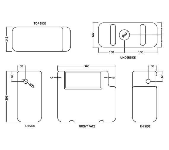 Technical drawing QS-V98185 / XTY008