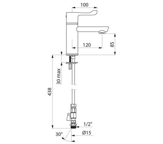 Technical drawing QS-V106819 / H960515L