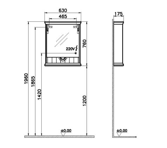 Technical drawing QS-V106855 / 62225