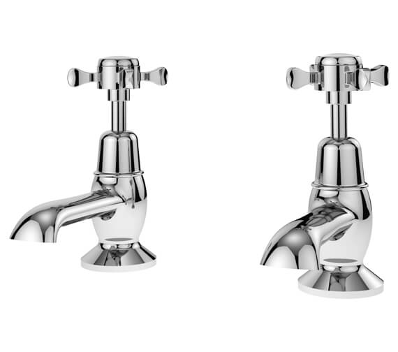 Nuie Selby Traditional Pair Of Basin Tap Chrome