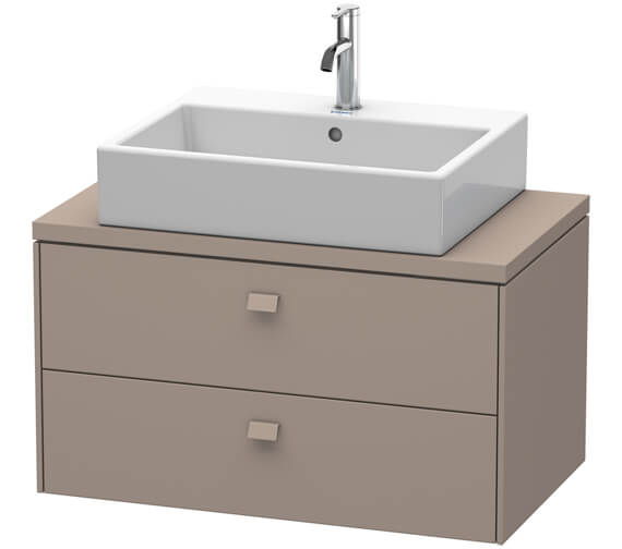 Additional image of Duravit Brioso 2 Drawer 820mm Compact Vanity Unit For Console